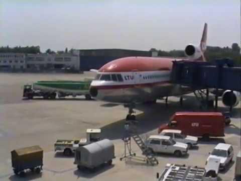 Flughafen Düsseldorf LTU Lockheed L-1011 TriStar Juli 1991
