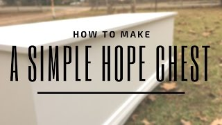 In this video I go through the processes of building a simple hope chest. The project is very cost effective and simple to make! If you