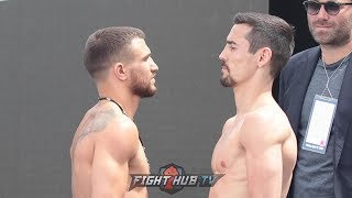 VASYL LOMACHENKO VS. ANTHONY CROLLA - FULL WEIGH IN & FACE OFF VIDEO FROM LOS ANGELES!