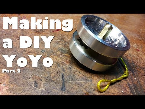 (2/2) Making a Custom DIY YoYo on the Mini Lathe - the axle, etching, & assembly