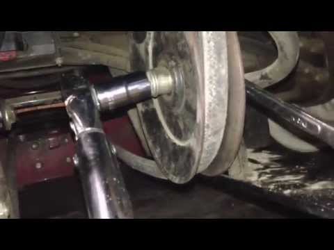 eXmark mule drive and deck belt replacement. - YouTube