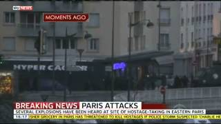 Flashes Seen At Site Of Central Paris Hostage Taking