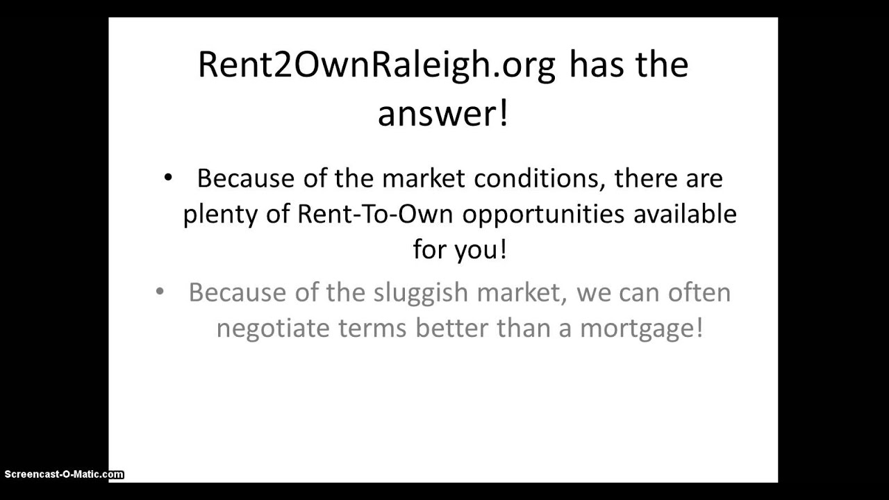 Rent To Own Homes in Raleigh Durham NC