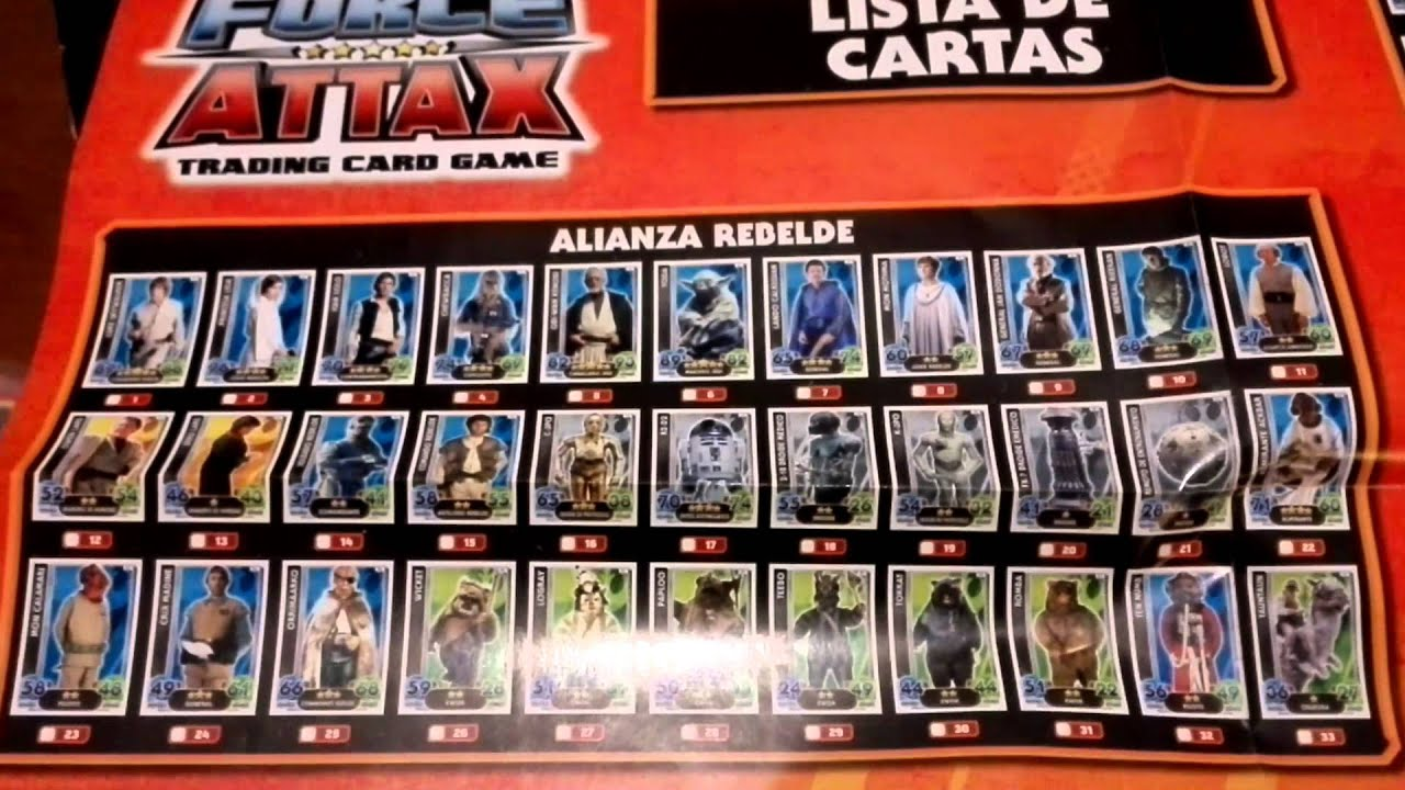 Coleccion Libros Star Wars Coleccion Star Wars Force Attax Topps Review Starter