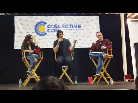 Courtney Ford,  Brandon J Routh and Patty Hawkins