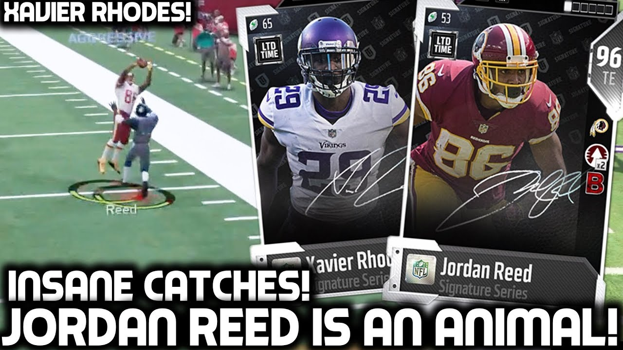 NEW JORDAN REED IS AN ANIMAL! BEST TIGHT END IN THE GAME! Madden 18 Ultimate Team