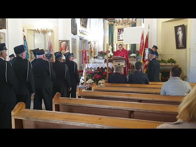Gminny Dzień Strażaka w Słubicach - fragmenty Mszy Świętej - 4 maja 2019 roku