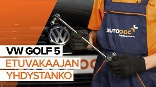 Katso video-opas VW Kallistuksenvakaajan yhdystanko vianetsinnästä