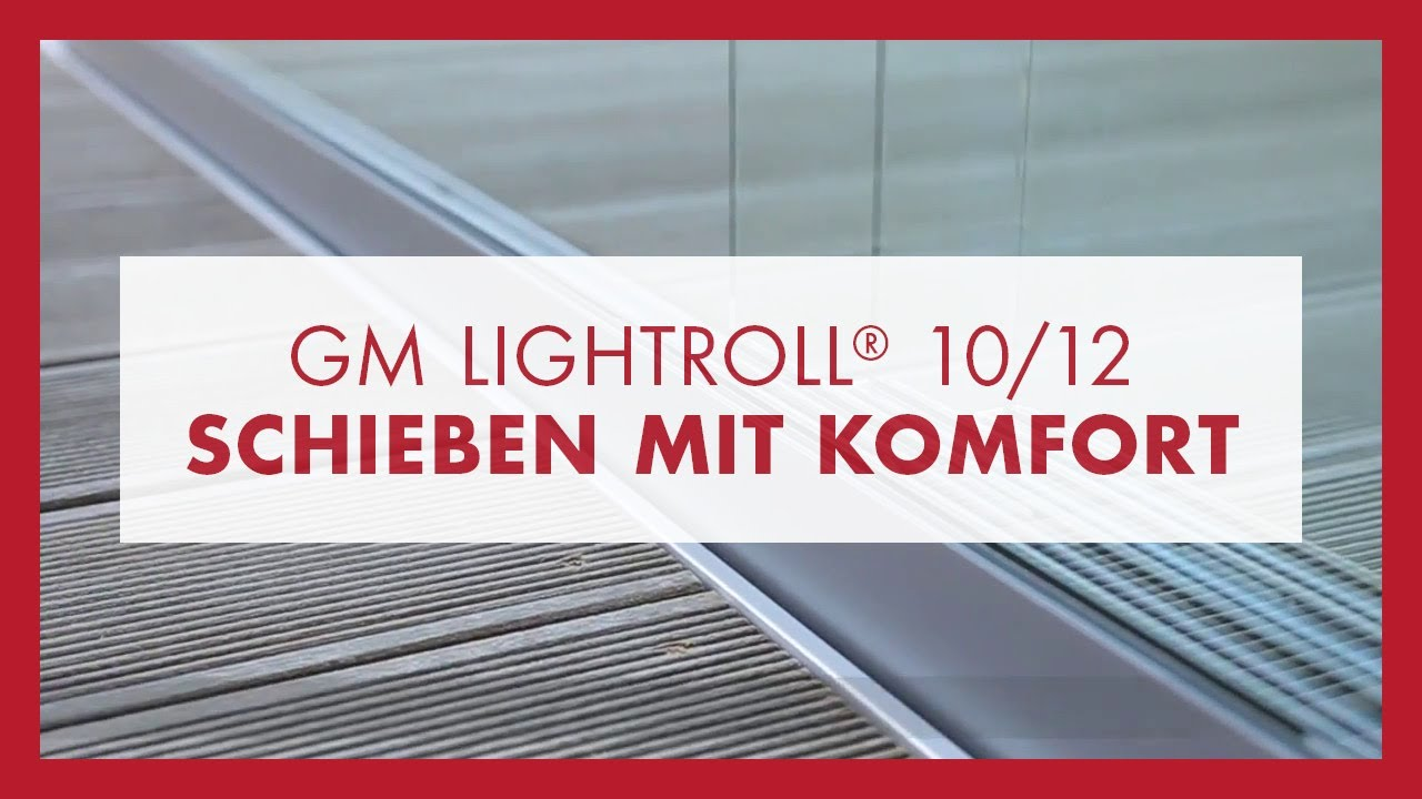 glas schiebet r system gm lightroll 10 12 von glas marte f r terrasse balkon loggia youtube. Black Bedroom Furniture Sets. Home Design Ideas