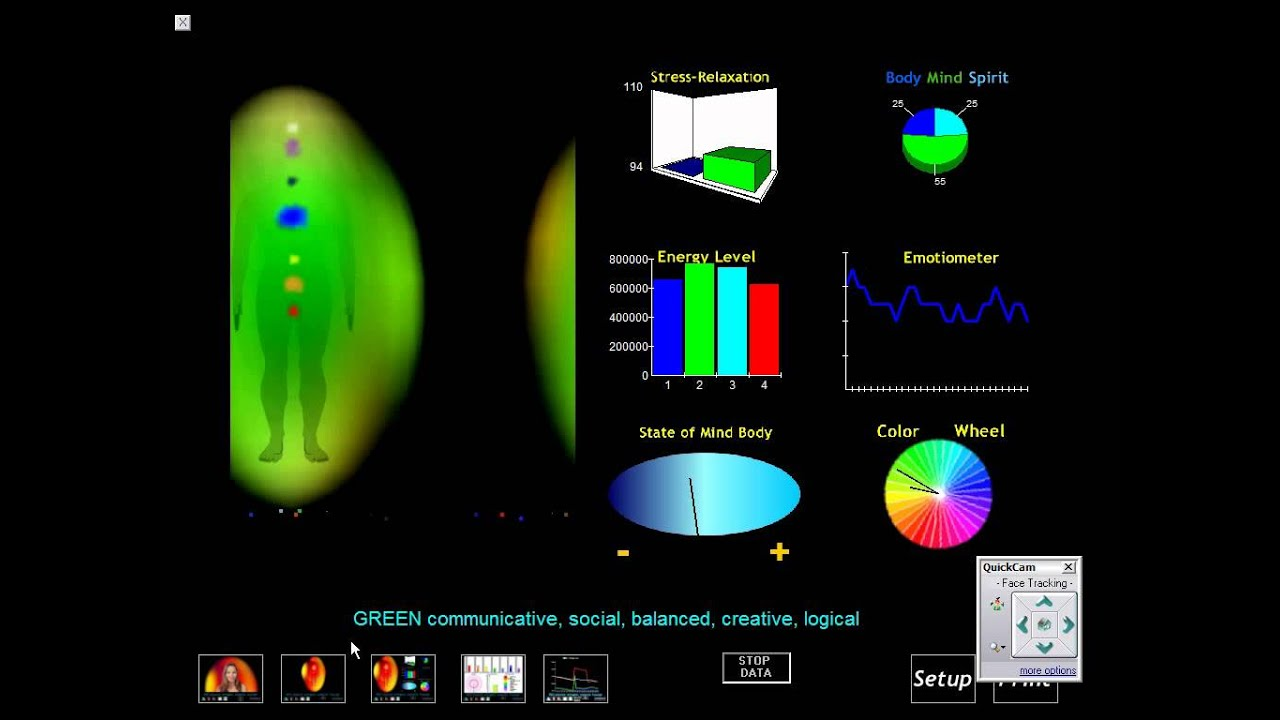 Vogel Crystal Introduced During Aura Photography And Chakra Imaging Sessionwmv
