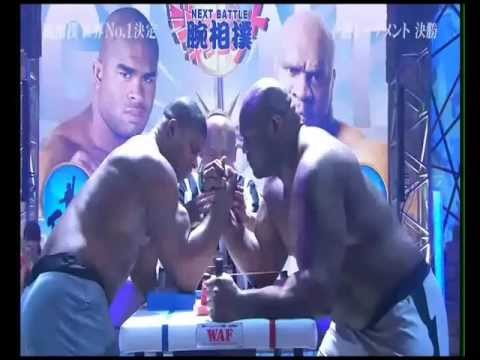 Alistair Overeem vs. Bob Sapp Arm Wrestling 2012