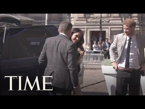 Prince Harry And Meghan Markle Greet Delegates At Commonwealth Reception   TIME