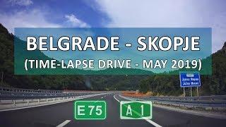 Gambar cover Belgrade-Skopje Time-lapse Drive (8x) (May 2019)