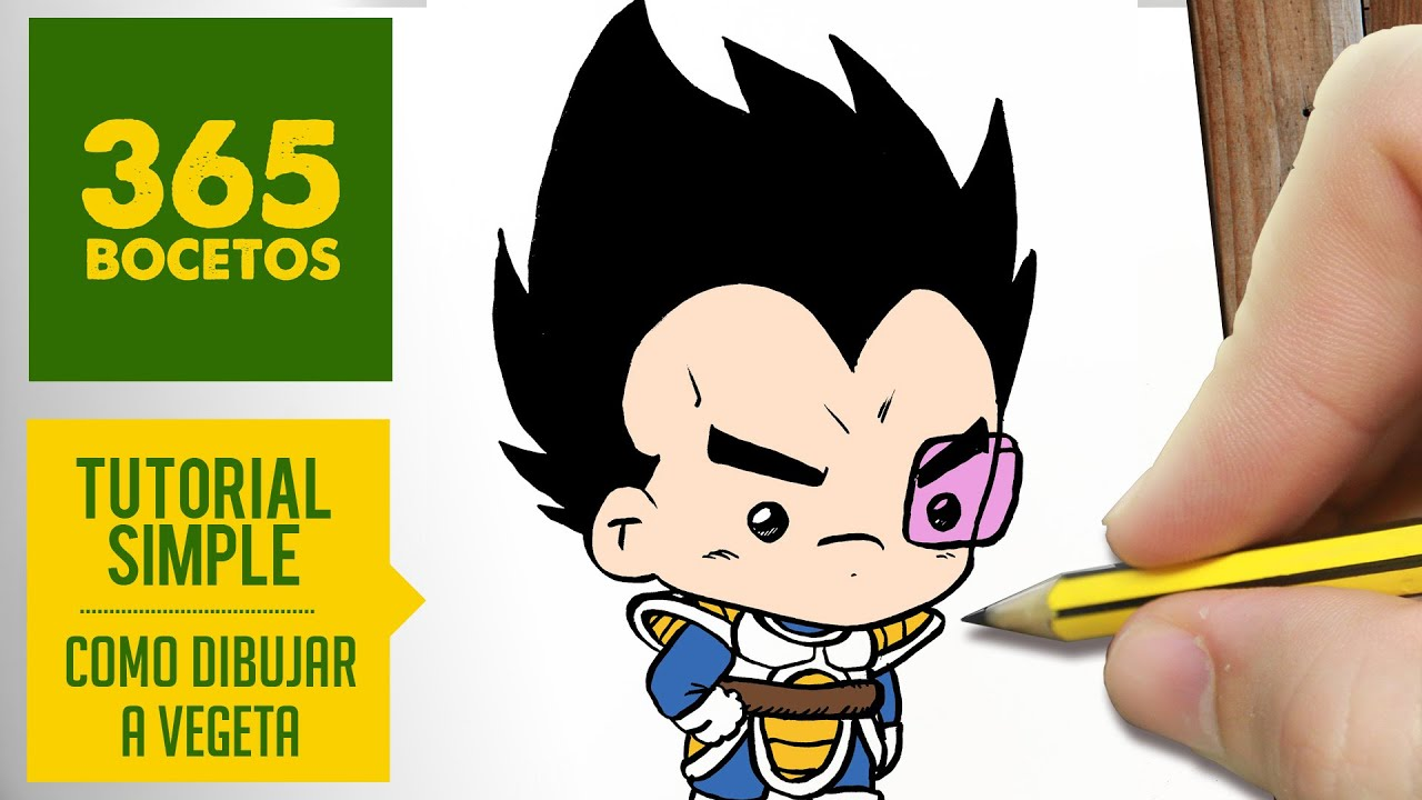 COMO DIBUJAR A VEGETA KAWAII PASO A PASO , Dibujos kawaii faciles , How to draw a Vegeta , YouTube