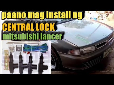 HOW TO INSTALL CENTRAL LOCK TO MITSUBISHI LANCER