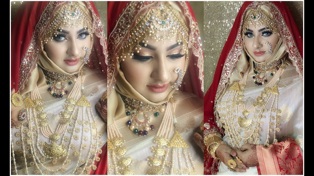 modern bridal makeup tutorial | bangladeshi/ indian/ asian wedding | hijabi bride | mim sabrin