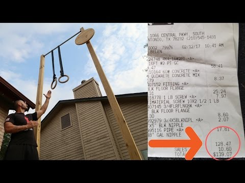 How to Build HOME / CROSSFIT muscle-up rig (for less than $140)