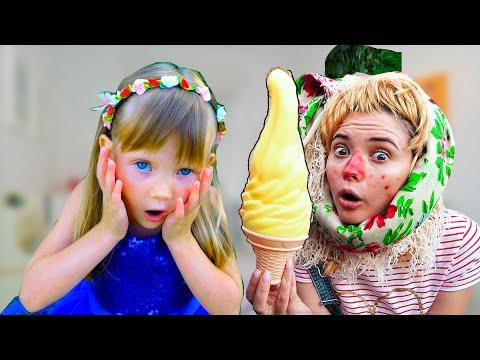 Продавец делает вкусное мороженое Принцесса Выбирает / Nastya Play