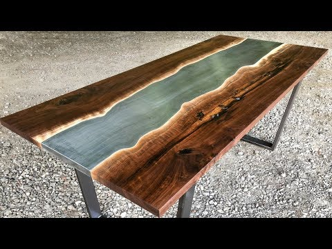 STEEL (Instead of Epoxy) RIVER TABLE!!!
