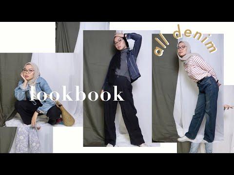 my take on styling denim | Hijab lookbook | Ade Muthia - YouTube