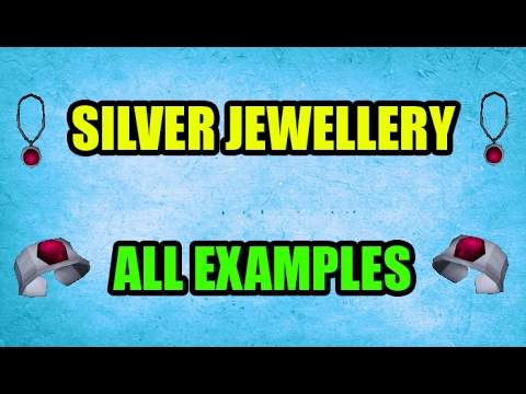 How Great Are The New Silver Jewellery Items? All examples OSRS