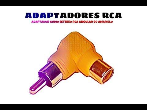 Video de Adaptador audio estereo RCA angular 90  Amarillo