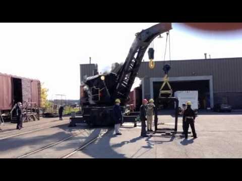 Central Vermont steam crane
