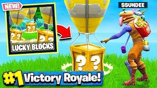 *NEW* LUCKY BLOCKS GAMEMODE in Fortnite Battle Royale (Playground Mode V2) thumbnail