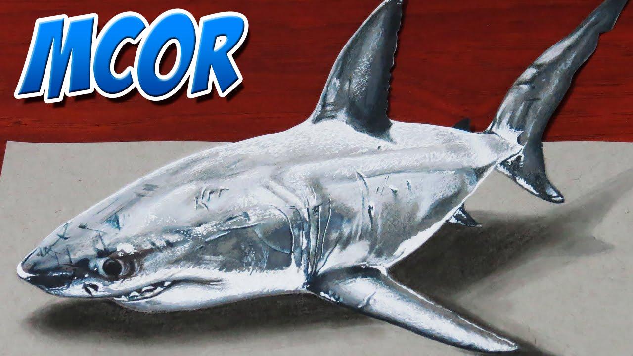 Como dibujar un tiburon 3d tutorial youtube for Dibujar un mueble en 3d