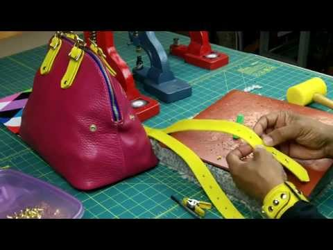 How To Make a Leather Bucket Bag Part 4 of 4