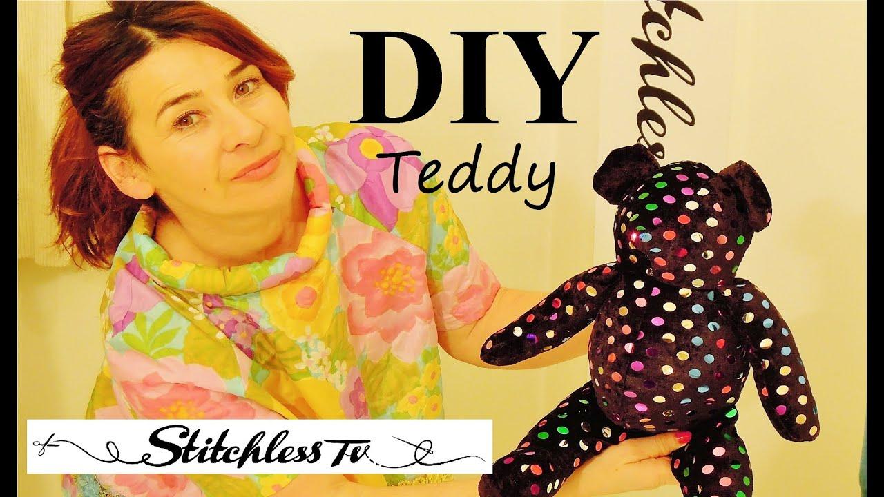 How to make a teddy bear youtube how to make a teddy bear jeuxipadfo Choice Image