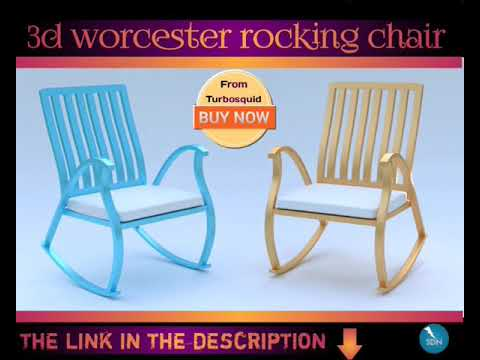 worcester rocking chair 3d model on turbosquid
