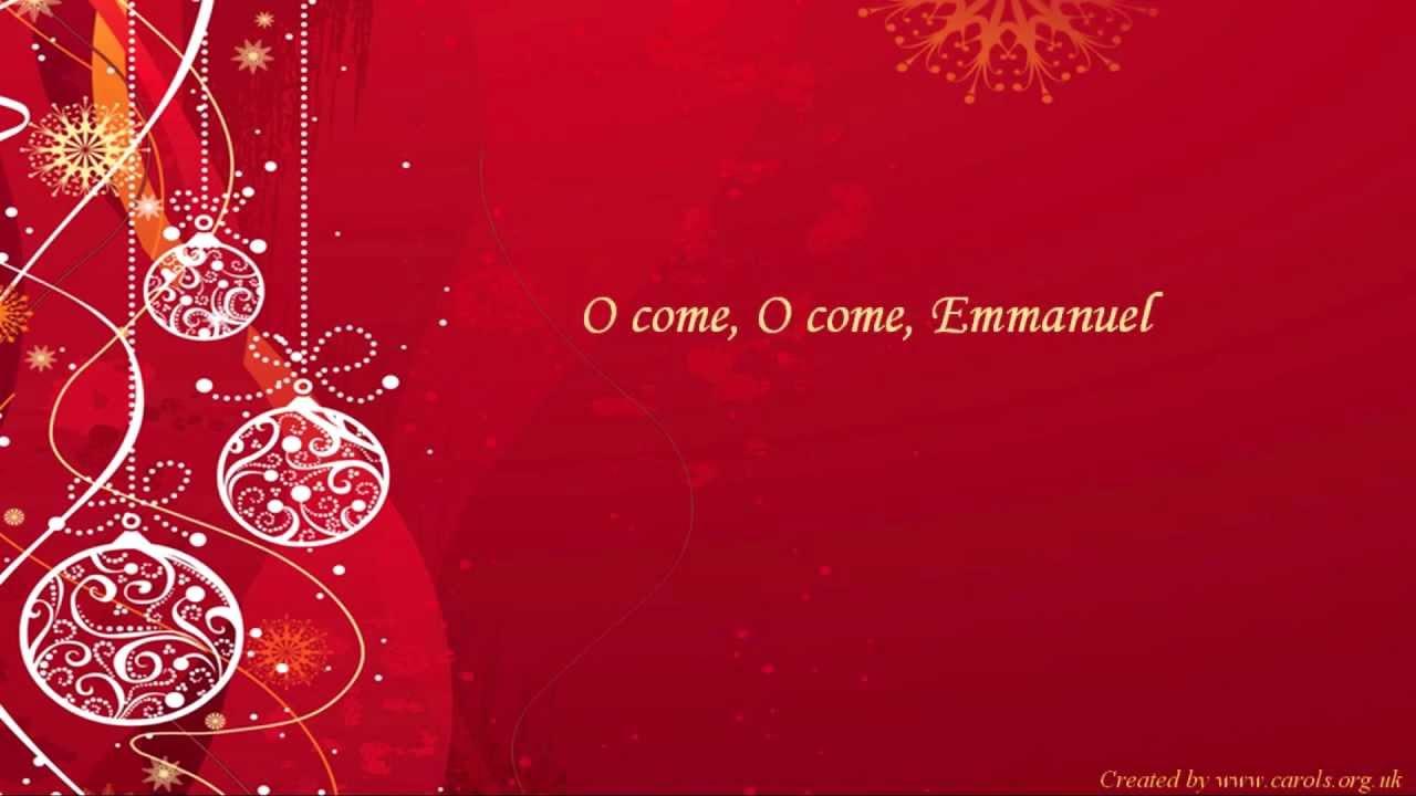O COME O COME EMMANUEL Lyrics - YouTube