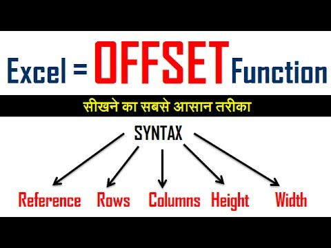 Offset formula in excel hindi