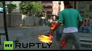 Turkey: Molotov cocktails, tear gas fly as PKK youth clash with police