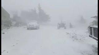 تساقط كثيف للثلوج بأعالي جبال بلدية اولاد هلال بولاية المدية