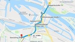 Radtour: Billhorner Brückenstraße, Veddeler Brückenstraße, Veddeler Straße, Schlenzigstraße