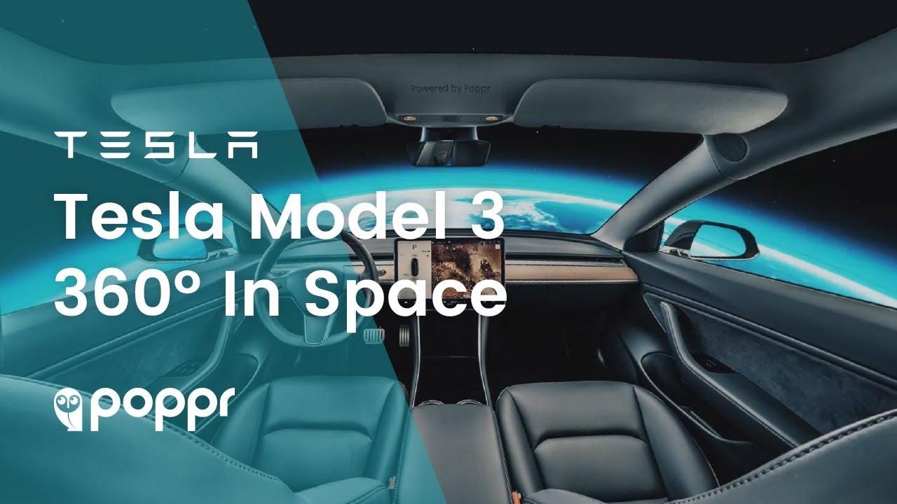 Tesla Model 3 interior in 360 Virtual Reality · Poppr
