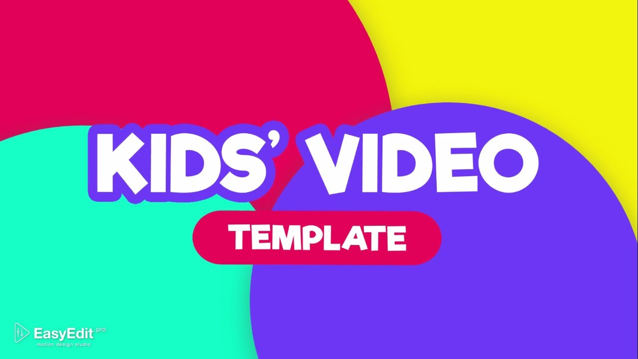 kids video template for youtube channel after effects template