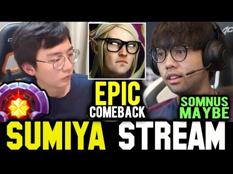 when Somnus丶M (MAYBE) gives SUMIYA Mid | Sumiya Invoker Stream Moment #623