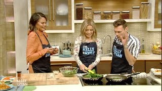 Chrissy Teigen's Recipe for Spice-Rubbed Parmesan Chicken Breasts with Garlicky Sautéed Spinach