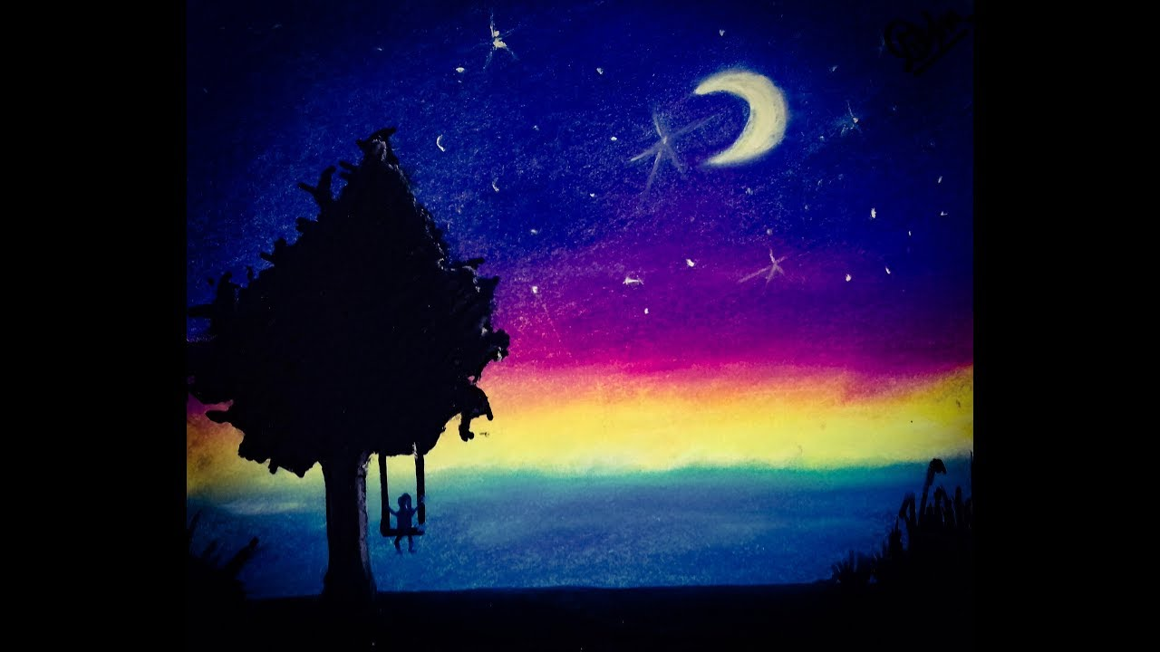 Landscape Night Sky Drawings Gardening Flower And Vegetables
