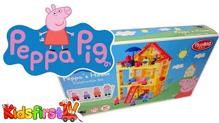 House & playground for Peppa Pig. Toy videos.