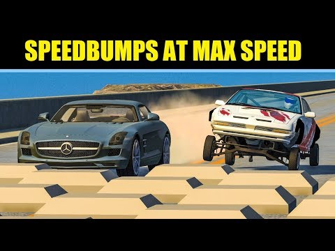 SPEEDBUMPS AT MAX SPEED #16 - BeamNG Drive Crashes