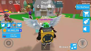 Roblox Mining Simulator New Legendary Wings(Angelic Wings) Hat And Pet!!!