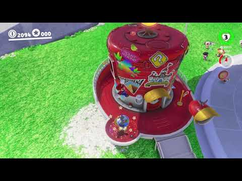 Super Mario Odyssey: 1 Up Girl/Jump Up Superstar melody on Globe (Globe Melody Easter Egg)