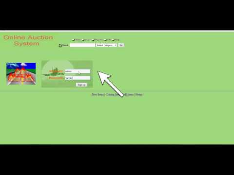 Online Bidding and Auction System –java web based project
