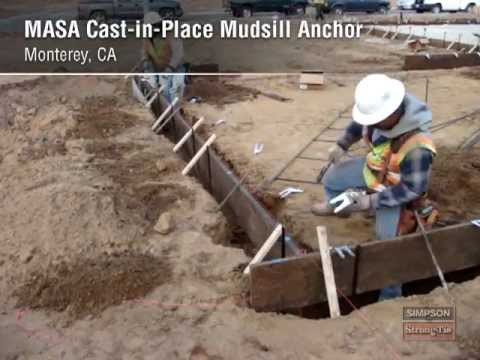 Masa Cast In Place Mudsill Anchor Youtube
