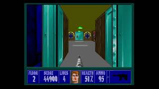 Wolfenstein 3D Playthrough Mission 2 Floor 2