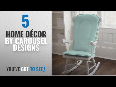 Top 10 Home Décor By Carousel Designs [ Winter 2018 ]: Carousel Designs Solid Seafoam Aqua Rocking